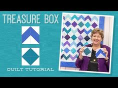 MSQC Tutorial - Treasure Box Quilt / try with batik charms or rainbow packs...