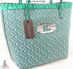 e3da61cb83b Guess G Logo Purse Tote Shoulder Hand Bag Teal Aqua Summer Rhinestone Tansy    eBay Discount
