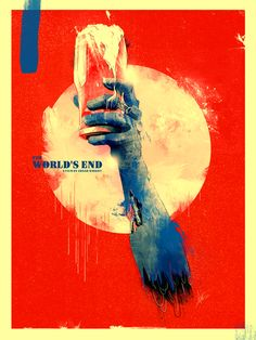 Invited by ShortList Magazine to create a alternative poster fan art for The World's End starring Simon Pegg and Nick Frost. Film Poster Design, Movie Poster Art, Cool Posters, Film Posters, Theatre Posters, Graphic Posters, Graphic Art, The World's End Movie, Superhero Poster