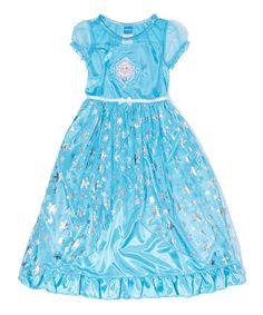 This Blue Elsa Fantasy Gown - Girls is perfect! #zulilyfinds