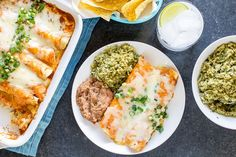 These creamy chicken enchiladas are fast and the flavor is right up there with those served at your local Mexican cantina. You'll love the cheesy filling!