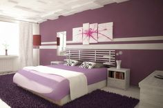 My ideal guest room for the three bedroom home I have chosen for my dream home. Purple is a color that is calming and symbolizes royalty, and that is exactly how I want to treat guests. The style is very modern, yet simple.