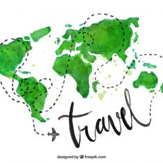 Wall Sticker Travel World Map - TenStickers Wall Stickers Travel, Cute Stickers, Wishes For Husband, Graphic Design Tools, Diy Design, Hand Lettering Art, Bookmark Craft, Water Color World Map, Backgrounds Free