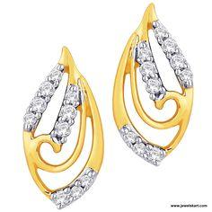 Gold and semi-precious stone earrings.