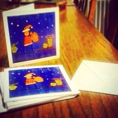 My Christmas postcards just arrived, Ready to write them...