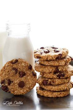 Breakfast Cookies (Healthy & 2 Ingredients) Low fat AND low calorie Breakfast Cookies are super easy to make and perfect for meal prep! Easy Cookie Recipes, Good Healthy Recipes, Healthy Snacks, Dessert Recipes, Desserts, Breakfast Cookie Recipe, Breakfast Recipes, Mexican Breakfast, Breakfast Sandwiches