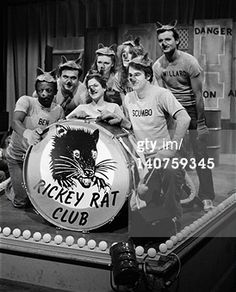 SATURDAY NIGHT LIVE -- Episode 6 -- Pictured: (l-r) Garrett Morris as Ben, John Belushi as Slezeball, Gilda Radner as Annette Funicello, Jane Curtin as Phlegma, Laraine Newman as Stinky, Dan Aykroyd as Scumbo, Bill Murray as Willard during 'Mr. Mike's Rickey Rat Club' skit -- Photo by: NBC/NBCU Photo Bank