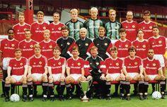 Manchester United 1991 ya con la Recopa de Europa.