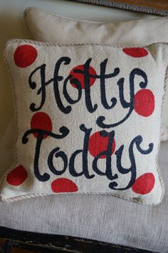 Custom Hotty Toddy Polkadot pillow  Ole Miss  Rebels  by kijsa, $36.00