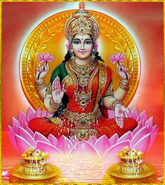 Lakshmi is mentioned once in Rigveda, where it means kindred mark or sign of auspicious fortune Lakshmi hindu art Lakshmi wealth Lakshmi goddesses Lakshmi haram Lakshmi tanjore painting Lakshmi vaddanam Lakshmi bangle Lakshmi decoration Lakshmi necklace Indian Goddess, Goddess Lakshmi, Lakshmi Images, Global Icon, Lord Vishnu Wallpapers, God Pictures, Mythology, Worship, Modern Art