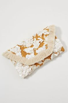 Celia Embellished Clutch by Anthropologie in Brown Size: All, Clutches Copper Fit, Tambour Embroidery, Strappy Sandals Heels, Small Bags, Clothes For Sale, Lace Detail, Women's Accessories, Purses, Anthropologie