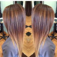 Medium brown base beautifully fading to a blonde ombré with balayage highlights by Ashley lecroy at synergy hair studio