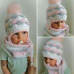 Crochet Bebe, Crochet Baby Hats, Knit Crochet, Knitting Patterns, Crochet Patterns, Crochet Winter, Finger Knitting, Winter Kids, Kids Hats