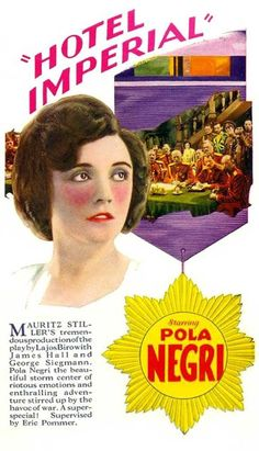 Theatrical poster for the 1927 silent film Hotel Imperial.