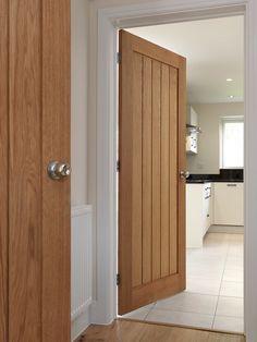 Thames Oak 5 Panel Unfinished Internal Door