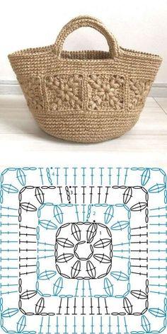 Choose and Copy: 18 Crochet Summer Bag and Knitting ProjectsKn Graphics . - Choose and Copy: 18 Crochet Summer Bags and Knitting Projects GraphicsKnitting FashionCrochet Hair - Crochet Motifs, Crochet Squares, Crochet Shawl, Crochet Doilies, Crochet Flowers, Crochet Stitches, Crochet Handbags, Crochet Purses, Mode Crochet