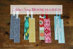 DIY Fabric Scrap Bookmarks Tutorial - great stocking stuffer for people who still read paper books!