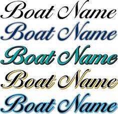 Boat Lettering Preview Your Boat Name Boat Stuff Pinterest - Custom houseboat vinyl numbers
