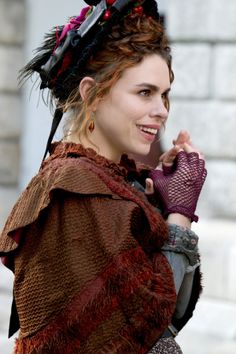 Brona in Penny Dreadful. The contrast between her lower class, outdated costumes(esp. Garish color choices, layering) and Eva Green's upper class Vanessa is nice. The show's designer is Gabriella Pescucci, one of the best in the business.