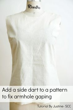 Add Side Dart To Fix Gaping Armhole - Sew Country Chick- DIY fashion and style
