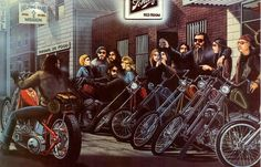 #ugurbilgin #UniTED #Riders #Brotherhood of #Turkey   #motorcycle arts   .David Mann Motorbiker Tshirt