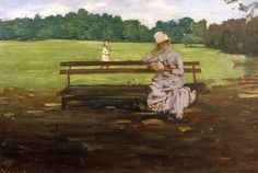 "-""Prospect Park - Brooklyn"" c.1890 William Merritt Chase (1849-1916)"