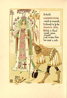 'Floral Fantasy' is authored and illustrated by Walter Crane. Originally published in 1899, it contains stunning colour illustrations, alongside the poetry.