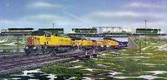 Railroad Print: Cheyenne Crossing by Robert West