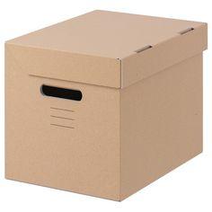 קופסא עם מכסה PAPPIS Decorative Storage Boxes, Small Storage, Storage Baskets, Storage Boxes With Lids, Licht Box, Such Und Find, Ikea Family, Ideas Para Organizar, Packaging