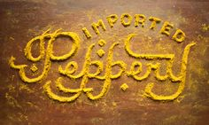 Look!  Gorgeous Food Typography Made of Curry, Flour, and Other Pantry Ingredients