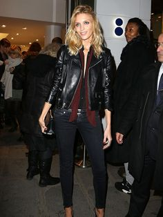 Supermodel, perfume maker, magazine editor: Anja Rubik is a fashion world maverick. Now the face of ELLE's pre-fall Collections shoot, in our June 2015 issue, we celebrate her ever-cool style. Anja Rubik, Punk Fashion, Fashion Models, Fashion Beauty, Tomboy Fashion, Lolita Fashion, Fashion Boots, Style Fashion, Edgy Outfits