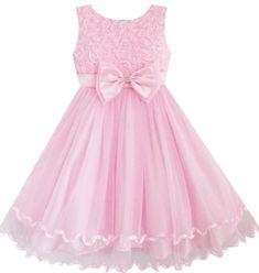 DZ64 Sunny Fashion Big Girls' Dress Pink Rose Bow Tie Belt Wedding Party Size 8 Sunny Fashion http://www.amazon.com/dp/B00F77M3YW/ref=cm_sw_r_pi_dp_ypftub1VZW06K