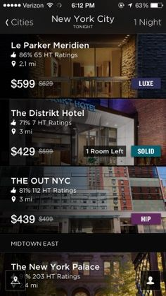 Hotel Tonight Screenshots