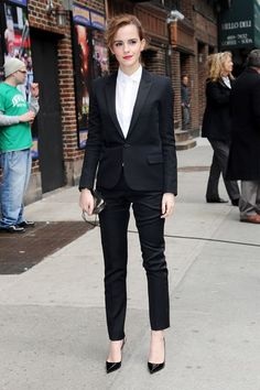 Best Dressed - Emma Watson - Saint Laurent tuxedo