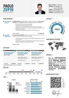 CV #curriculum #vitae #visuel #design #blue #black #sobre #map #infographie