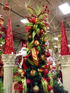 #Traditional Christmas themed. #Christmas at Arcadia Floral & Home Decor Showroom.