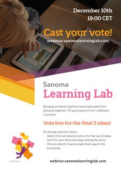 Dec. 10 / 19:00 CET - Bootcamp Selection Webinar | Sanoma Learning Lab