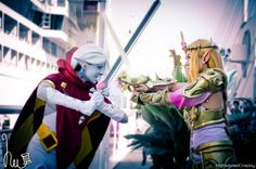 Zelda and Ghirahim from #HyruleWarriors, by Highwinded Cosplay