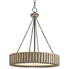 Greyledge Chandelier (Old Iron and Washed Gray) - OPEN BOX RETURN by Currey