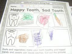 dental health crafts | ABC's of Jess's house: Dentist Preschool today