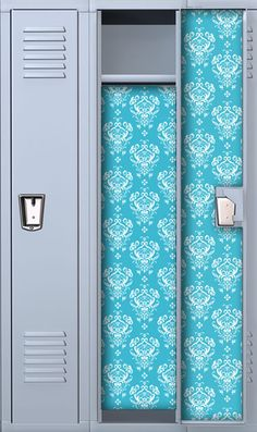 Midnight Blue Glitter Paisley Locker Wallpaper Lookz