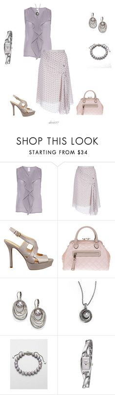 """Untitled #845"" by doris610 ❤ liked on Polyvore featuring Vila Milano, Nina Ricci, Nine West, Marc Jacobs, David Yurman and Accurist"