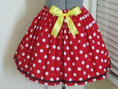 Minnie Mouse Skirt with a sexy yellow bow by AquamarsBoutique Minnie Mouse Skirt, Minnie Mouse Halloween, Minnie Mouse Costume, Mickey Mouse, Halloween 2016, Bow Skirt, Sexy Skirt, Kids Outfits Girls, Girl Outfits