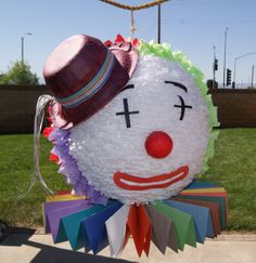 Love this Clown Pinata by NeverEndingCreation on Etsy, $65.00