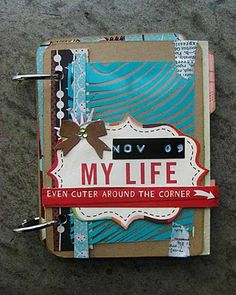 Coffee Girl Crafts: A blog about pretty things: November Label Tulip Minibook
