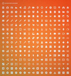 GEOMICONS SQUARED  256 vector icons (EPS format)