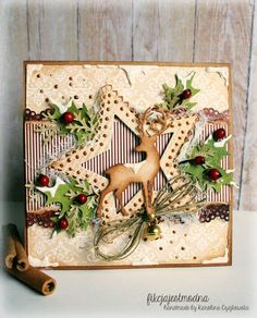 Winter Deer Card; Christmas, Solstice