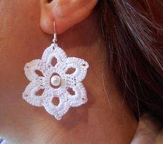 Crochet Beaded Earrings/gift for women
