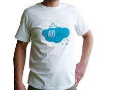T-Shirts - Bio T-Shirt, Ahoi Wolkenschiff, Männer, L oder XL - ein Designerstück von cherry_bomb bei DaWanda