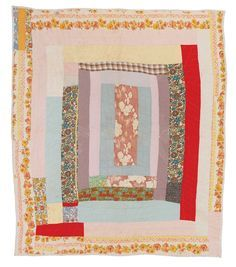 Quilts of Gees Bend Gearldine Westbrook, born Édredons Cabin Log, Log Cabin Quilts, Antique Quilts, Vintage Quilts, Quilting Tutorials, Quilting Designs, Gees Bend Quilts, African Quilts, Art Textile